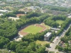 Das Sportfeld von oben...
