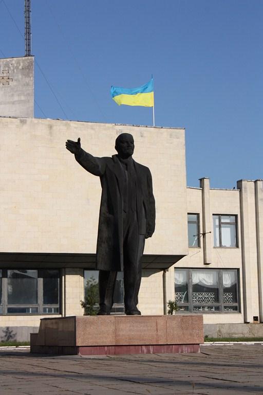 Lenin steht so ziemlich jeder Stadt