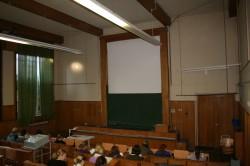 Der Hörsaal des Botanischen Instituts