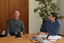 Gerhard Imhorst und Karl Hildebrand stellen den Radverkehrsplan vor
