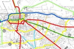 Die 14 Hauptrouten der Stadt