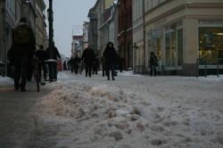 Schnee in der Langen Straße