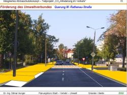 Die Querung der Walther-Rathenau Straße - Autofahrer mussen Vorfahrt gewähren