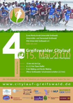 Flyer des 4. Citylaufs