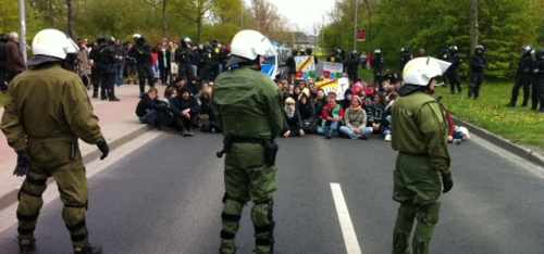 Aktuelle Lage auf der Schönwalder Landstraße.