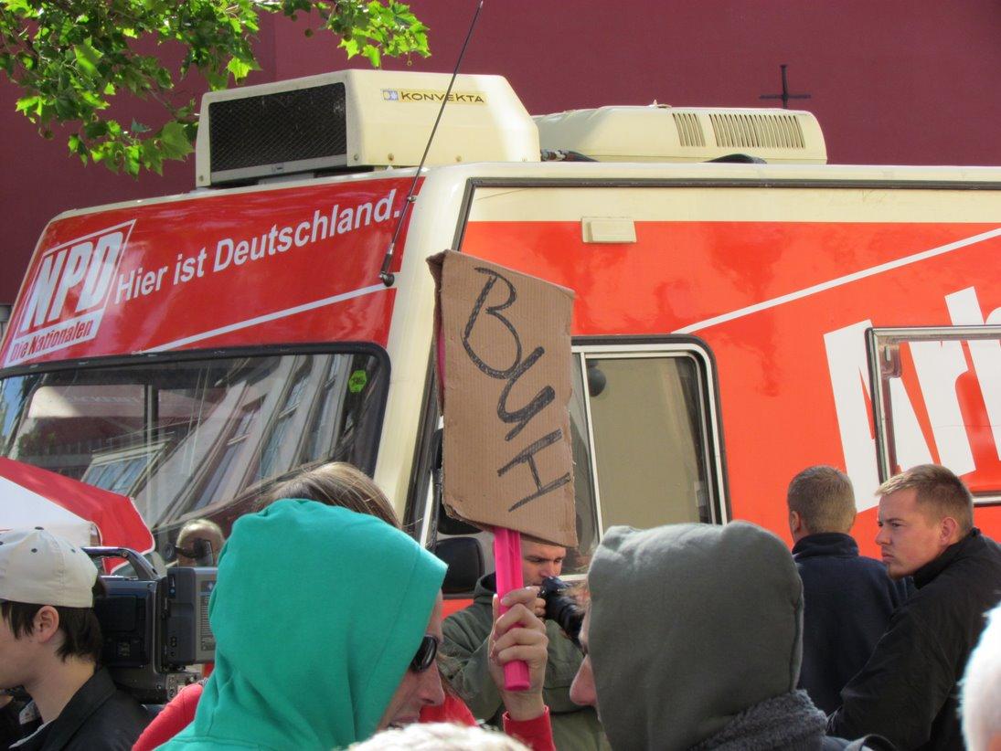 NPD-Wahlkampf in Greifswald erneut gescheitert