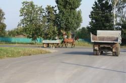 Pferdewagen gehören zum Straßenbild