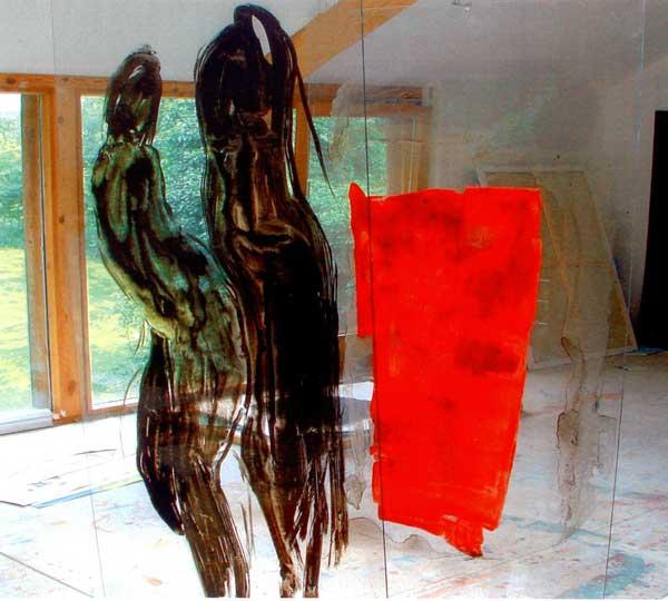 """Malerei auf Plexiglas – """"Vehemente Kunst"""" von Anna Wiesinger"""