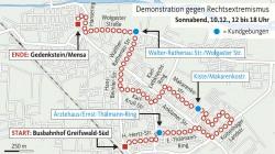 Demonstrationsroute (J. Wenzel, übernommen aus der Ostsee Zeitung, keine CC-Lizenz)