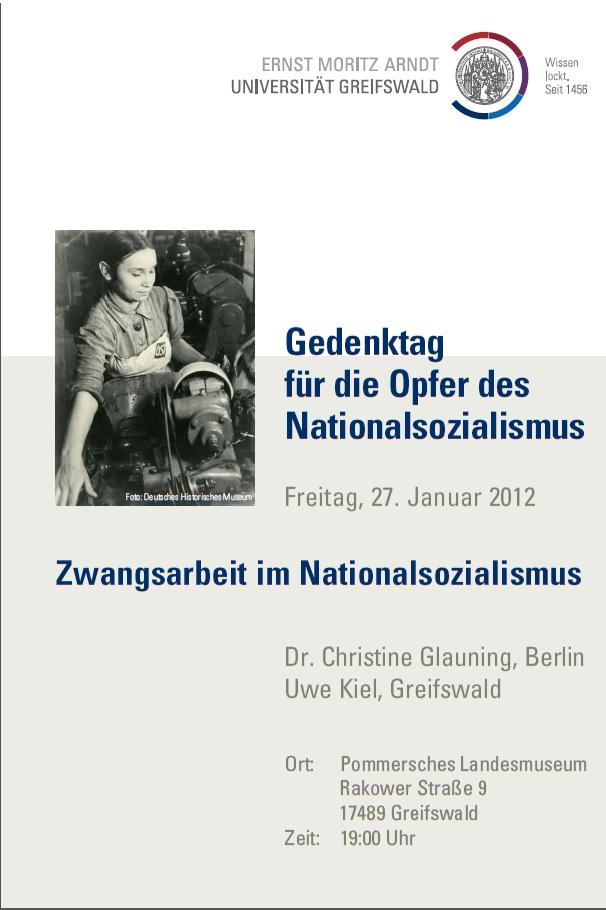Gedenken an NS-Zwangsarbeit im Pommerschen Landesmuseum