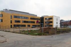 Baustelle des Labor- und Praktikumsgebäudes (LPG) für die Biologie und Pharmazie