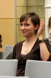 Katrin Haubold nach ihrer Bewerbung.