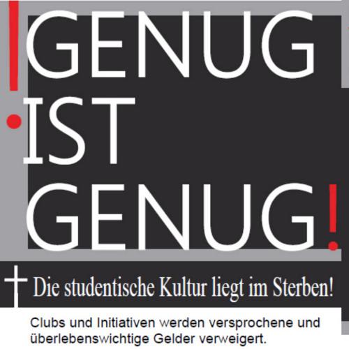 """Demo am Mittwoch: """"Studentische Kultur liegt im Sterben!"""""""