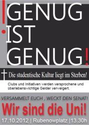 Der Flyer zur Demo.