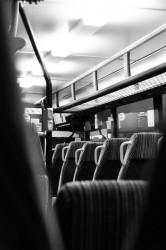 Leere Busse auf dem Land