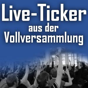 Live Ticker: Vollversammlung Wintersemester 2014/15