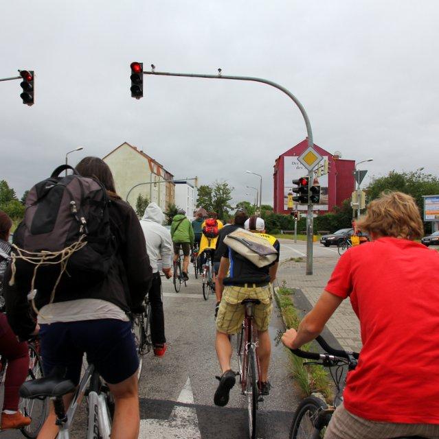 Radfahrer kämpfen für Toleranz in Greifswald