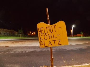 Birne stopft Sommerloch: Helmut-Kohl-Platz wieder Thema