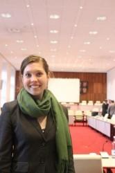 Johanna Ehlers, Vorsitzende des AStA Greifswald, im Finanzausschuss