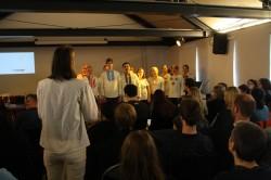 Der Chyrillisch-Chor während der Buchvorstellung.