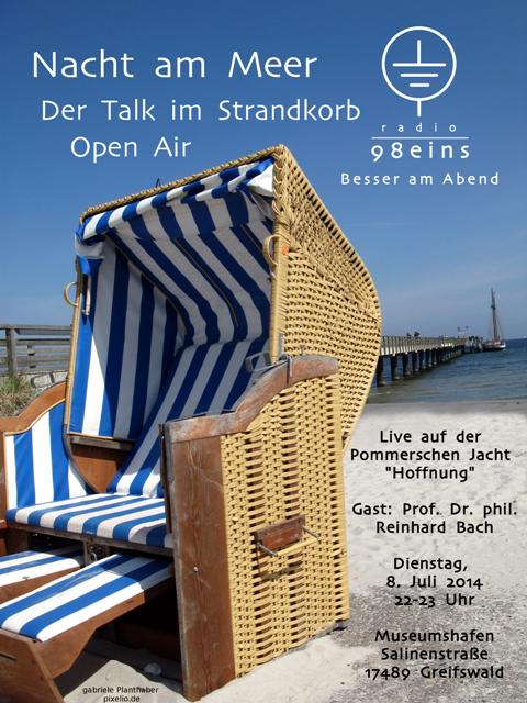 """""""Nacht am Meer – Der Talk im Strandkorb"""" Open Air"""