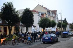 Am 30. September zogen die Protestanten durch die Straßen Greifswalds, danach quartierten sich einige von ihnen in dem Gebäude ein.