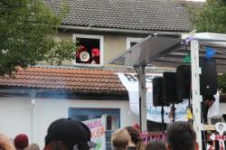 Auch die Brinke WG meldete sich während der Demo zu Wort