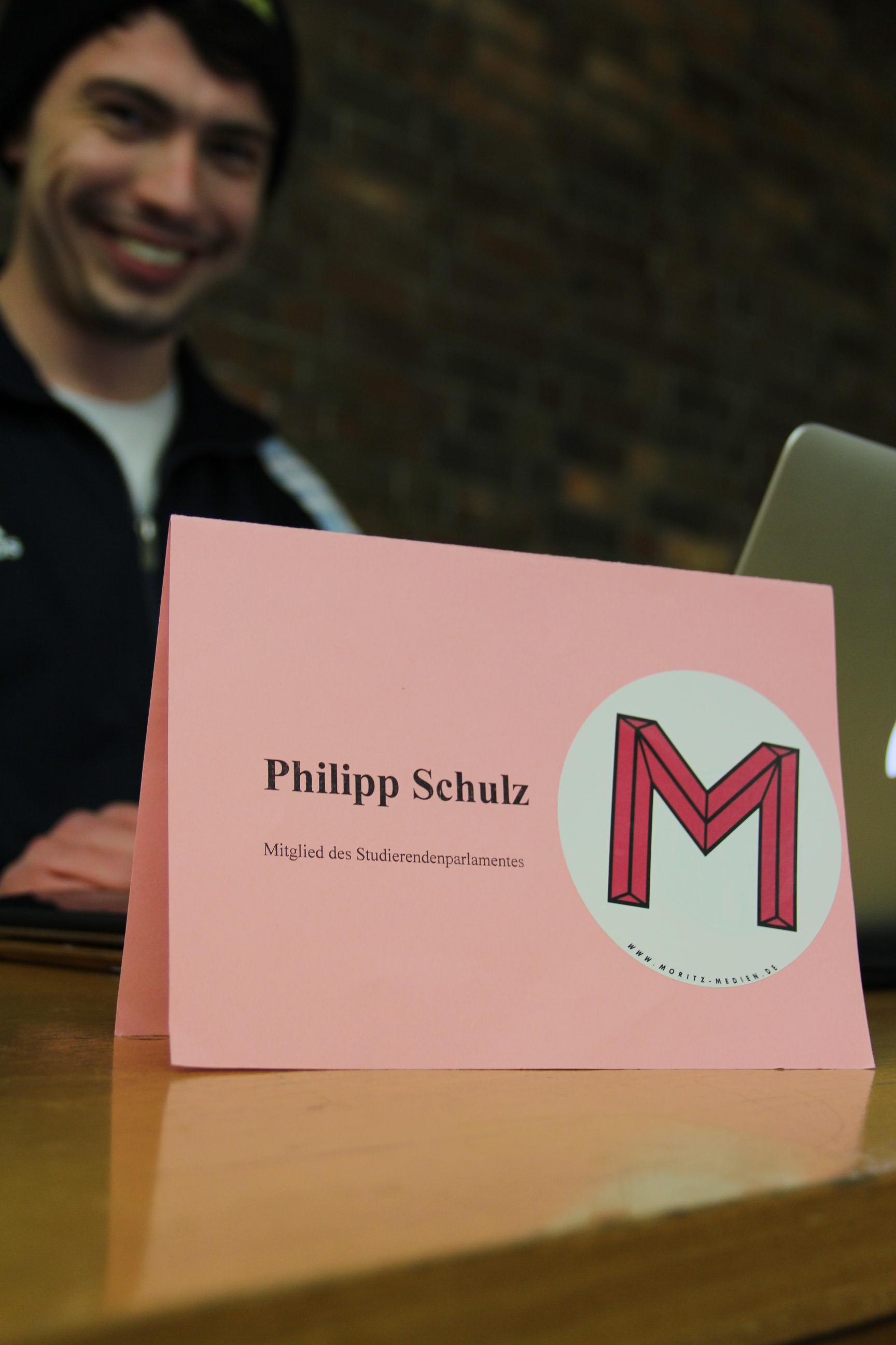 Heute StuPist und Tickerer. Philipp Schulz.
