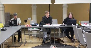 Das neue StuPa-Präsidium: Jonathan Dehn, Alexander Wawerek und Marieke Schürgut (v.l.).