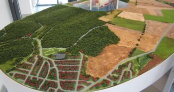 Ein Modell der Landschaft um die Asse.
