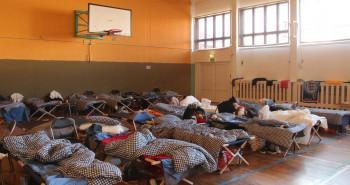 Betten für Flüchtlinge