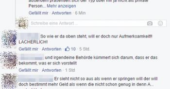 Kommentare zum Suizidversuch eines Honduranes auf einer Greifswalder Neonaziseite