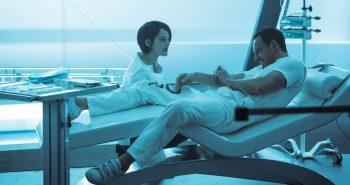 Sofia (Marion Cotillard) and Callum (Michael Fassbender) at Abstergo in Madrid