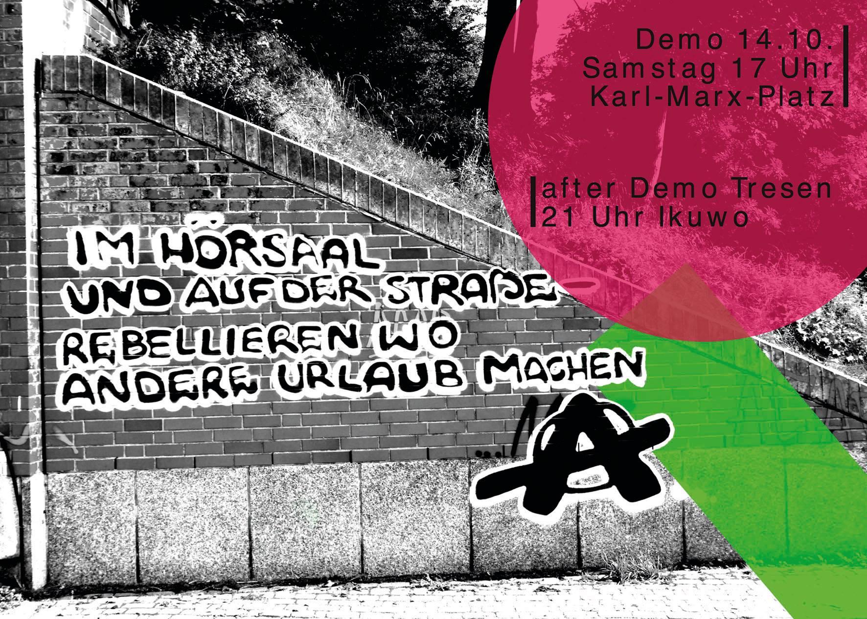 Demonstration für linke (Hochschul)-Politik angekündigt