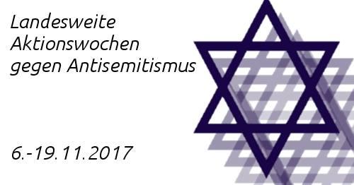 Landesweite Aktionswochen gegen Antisemitismus