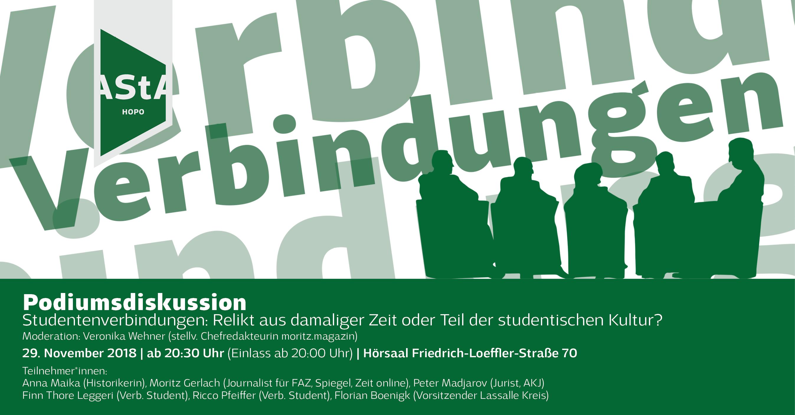 Podiumsdiskussion zu Studentenverbindungen