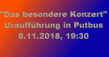 """Putbus erlebt am 9. Nov. """"Das besondere Konzert"""""""