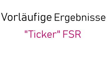 """""""Ticker"""" bei der Auszählung der FSR-Wahlen 2019"""