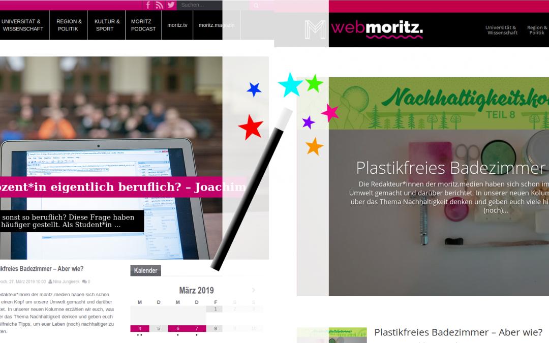 Huch, das sieht ja ganz anders aus! webmoritz. im neuen Design