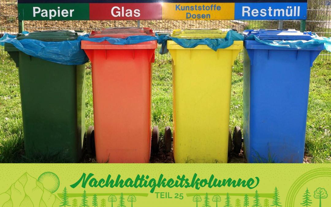 Mülltrennung – aber wie?