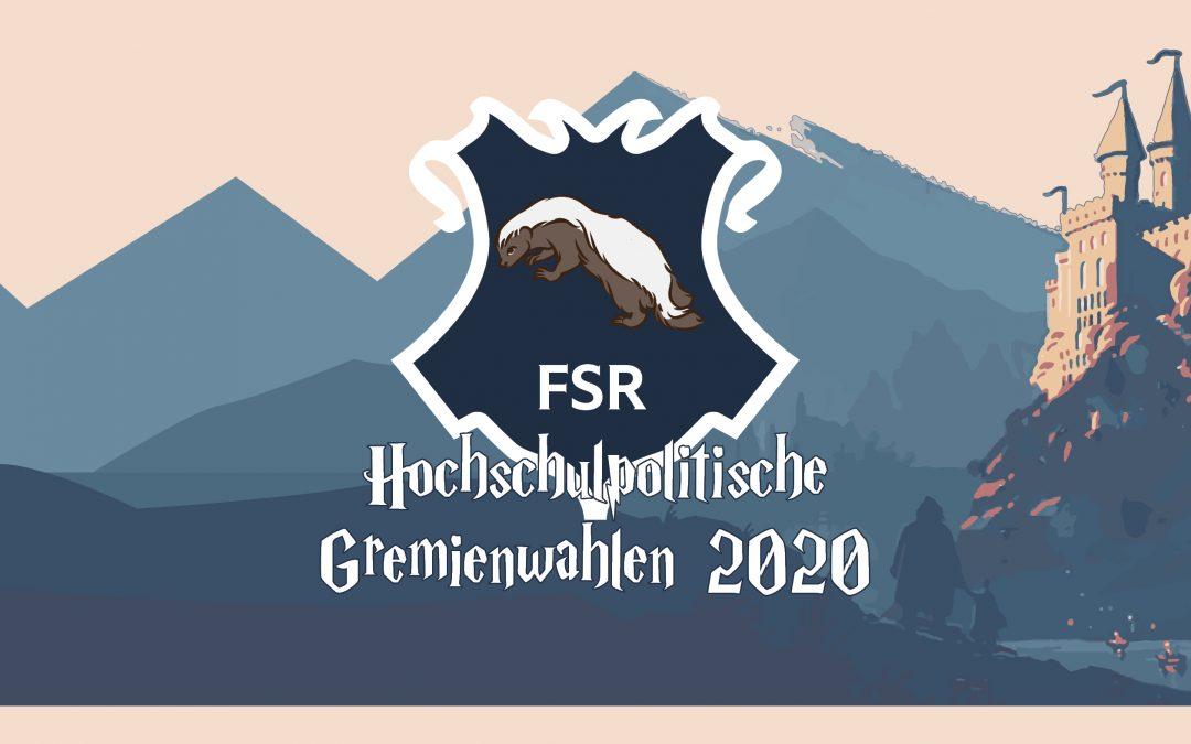 Bekanntmachung der Wahlvorschläge für die Fachschaftsräte (FSR)