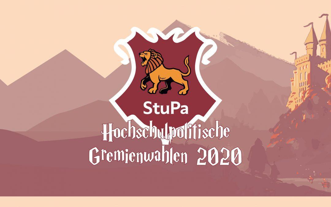 Bekanntmachung der Wahlvorschläge für das Studierendenparlament (StuPa)