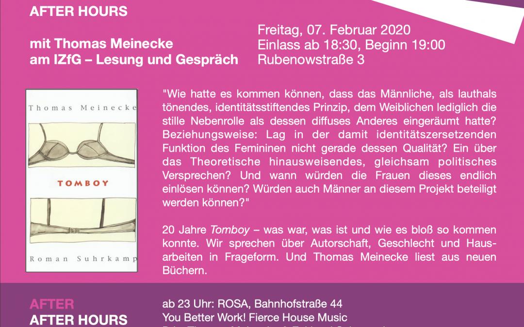 07.02.: AFTER HOURS mit Thomas Meinecke und der ROSA