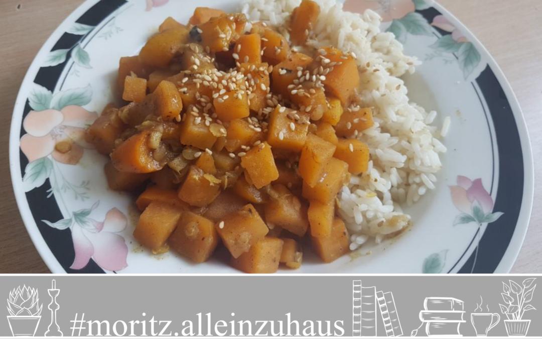 Steckrüben-Curry mit Gewürzreis (vegan)